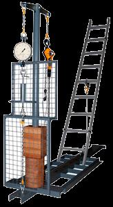 Испытание стремянок, лестниц, страховочных поясов, канатов